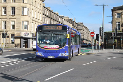 69406 on the new direct route to Haymarket westbound on West Maitland Street