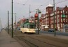 Coronation car 668, approaching Gynn Square, Blackpool, Sat 18 October 1975.  Arriving from Bispham.  Photo by Les Tindall.