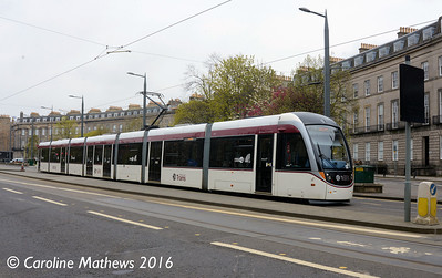 Edinburgh Trams 277, Shandwick Place, Edinburgh, 7th May 2016