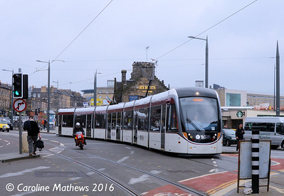 Edinburgh Trams 269, Haymarket, Edinburgh, 7th May 2016