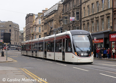 Edinburgh Trams 275, Shandwick Place, Edinburgh, 7th May 2016