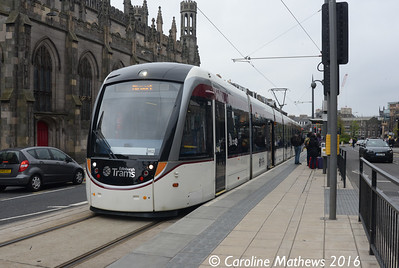 Edinburgh Trams 268, York Place, Edinburgh, 7th May 2016