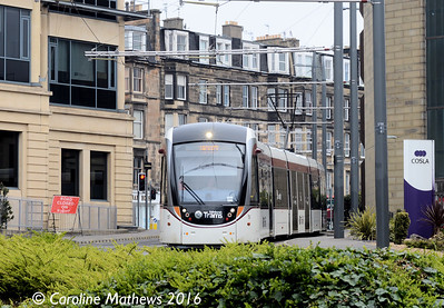 Edinburgh Trams 252, Haymarket Yards, Edinburgh, 7th May 2016