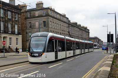 Edinburgh Trams 268, Shandwick Place, Edinburgh, 7th May 2016