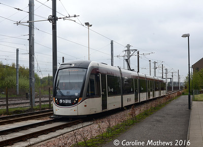 Edinburgh Trams 265, Haymarket Yards, Edinburgh, 7th May 2016