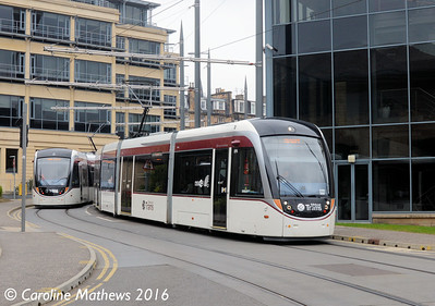 Edinburgh Trams 275, Haymarket Yards, Edinburgh, 7th May 2016