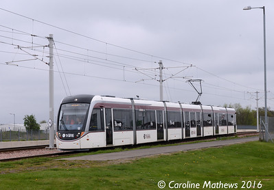 Edinburgh Trams 266, Edinburgh Airport, 7th May 2016