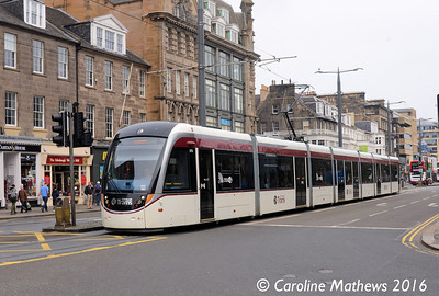 Edinburgh Trams 275, Princes Street, Edinburgh, 7th May 2016