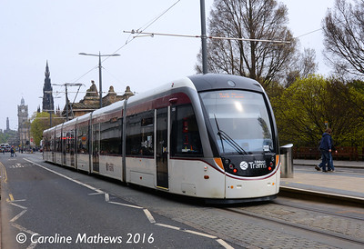 Edinburgh Trams 265, Princes Street, Edinburgh, 7th May 2016