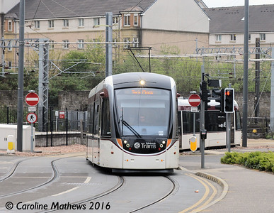 Edinburgh Trams 277, Haymarket Yards, Edinburgh, 7th May 2016