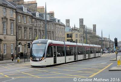 Edinburgh Trams 277, York Place, Edinburgh, 7th May 2016