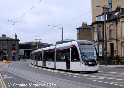 Edinburgh Trams 255, Clifton Terrace, Edinburgh, 7th May 2016