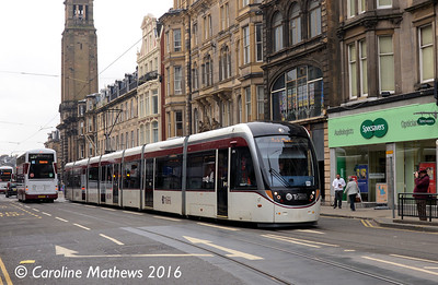 Edinburgh Trams 276, Shandwick Place, Edinburgh, 7th May 2016