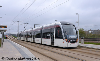 Edinburgh Trams 268, Balgreen, Edinburgh, 7th May 2016