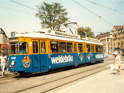 Another HSB car in an advertising livery seen in Bismarckplatz was 241 of 1973.