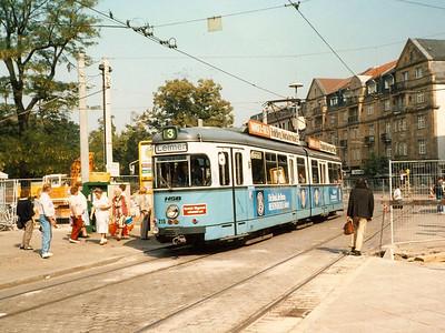 1964 built 215 was seen in Bismarckplatz, wearing fleet livery