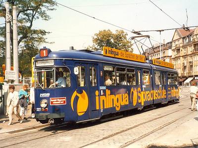 HSB 227, built in 1968, seen in Bismarckplatz.