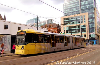 Metrolink 3072, Mosley Street , 26th April 2014