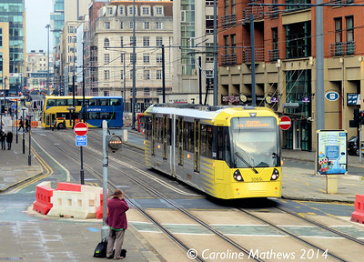Metrolink 3069, Lower Mosley Street, 6th December 2014