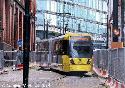 Metrolink 3036, Balloon Street, 6th December 2014