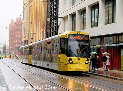 Metrolink 3040, Mosley Street, Manchester, 6th September 2014