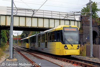 Metrolink 3014, East Didsbury, 6th September 2014