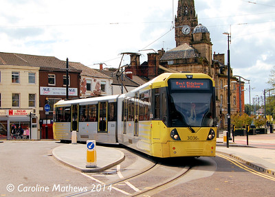 Metrolink 3036, Rochdale , 26th April 2014