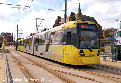 Metrolink 3006, Oldham Mumps, 26th April 2014