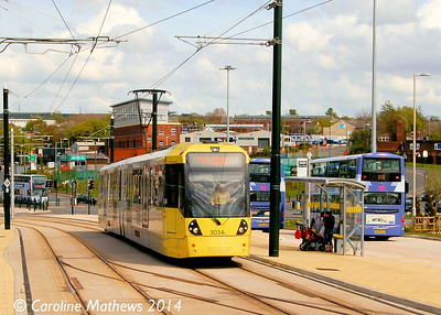 Metrolink 3034, Oldham Mumps, 26th April 2014