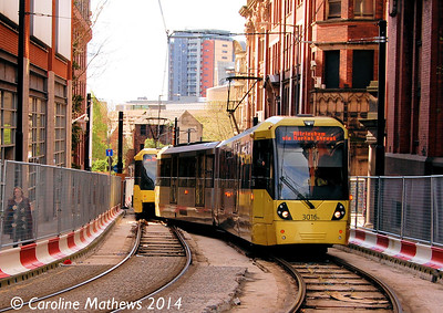 Metrolink 3016, Balloon Street, 26th April 2014
