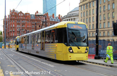 Metrolink 3070, Mosley Street, 6th September 2014