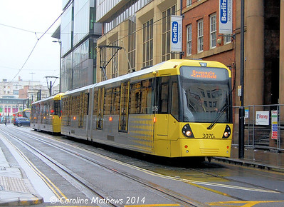 Metrolink 3076, Mosley Street, Manchester, 6th September 2014