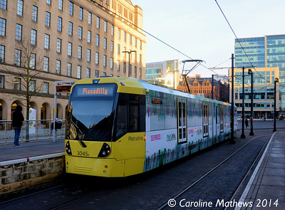 Metrolink 3045, St Peter's Square, 6th December 2014