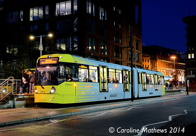 Metrolink 3064, Piccadilly Gardens, 6th December 2014