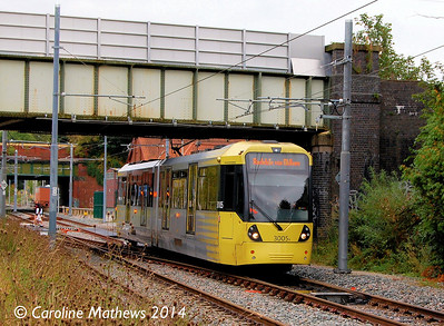 Metrolink 3005, East Didsbury, 6th September 2014