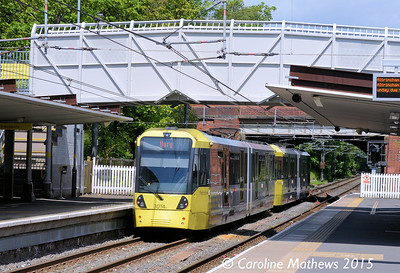 Metrolink 3014, Crumpsall, 5th June 2015