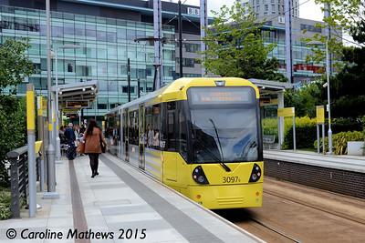 Metrolink 3097, Media City UK, 5th June 2015