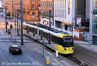 Metrolink 3052, London Road, Manchester, 7th March 2015