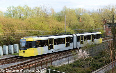 Metrolink 3025, Bury, 17th April 2015