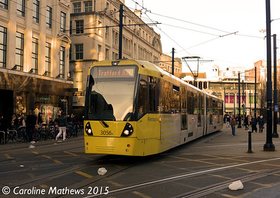 Metrolink 3056, Manchester, 7th March 2015