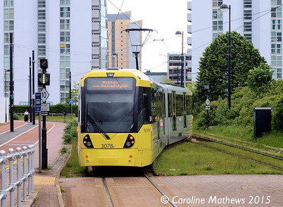 Metrolink 3078, Broadway, 5th June 2015