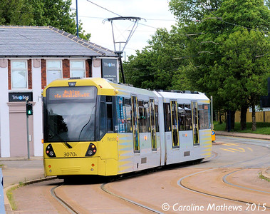 Metrolink 3070, Weaste, 5th June 2015