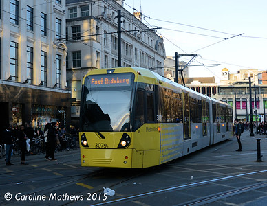 Metrolink 3079, Manchester, 7th March 2015