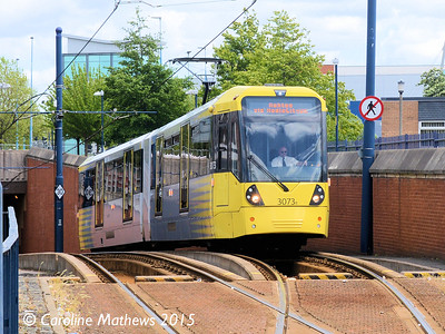 Metrolink 3073, Eccles, 5th June 2015