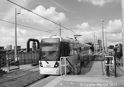 Manchester Metrolink 3097, Deansgate-Castlefield, 3rd June 2017