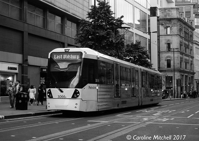 Manchester Metrolink 3066, Cross Street, 3rd June 2017