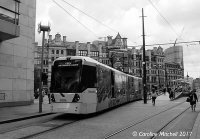 Manchester Metrolink 3095, Exchange Square, 3rd June 2017