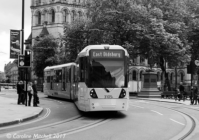 Manchester Metrolink 3105, Princess Street, 3rd June 2017