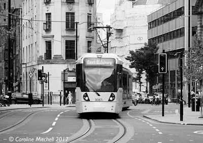 Manchester Metrolink 3087, Princess Street, 3rd June 2017