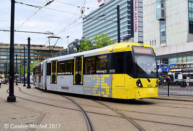 Manchester Metrolink 3092, Piccadilly Gardens, 3rd June 2017